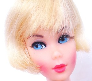 Blonde Hair Fair Barbie Head
