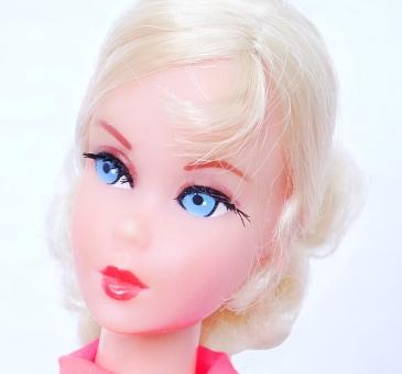 Blonde Nape Curl Talking Barbie face