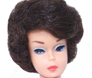 Brunette Bubble Cut Barbie doll big head