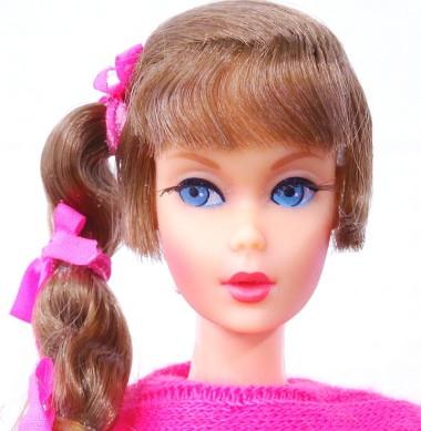 Brunette Talking Barbie Doll face