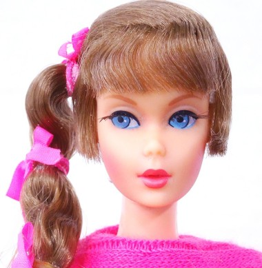 Brunette Talking Barbie Doll face