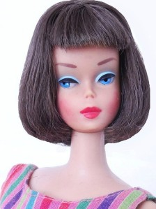 dark brunette Long Hair High Color American Girl Barbie Doll