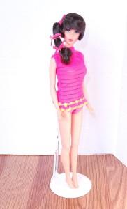 Dark Brunette Side Ponytail Talking Barbie Doll