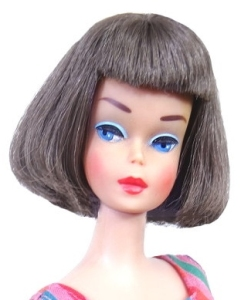 ilver Brunette Long Hair High Color American Girl Barbie Doll