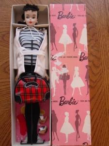 No3Ponytail~ PinkSilhouetteDressedBox~WinterHoliday~MIB