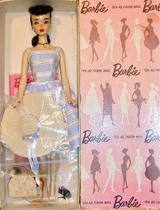 Pink Silhouette Box #3 Brunette Ponytail ~Suburban Shopper MIB