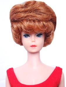 Red Head Bubble Cut