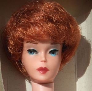 Red Head with dark red lips Bubbule Cut 1961