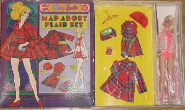 SEARS EXCL BARBIE MAD ABOUT PLAID~GIFT SET~$2495~140305