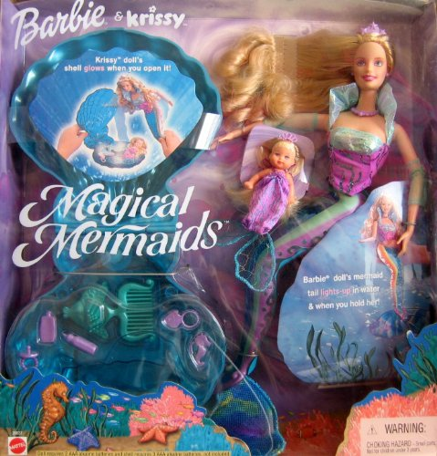 2000 Magical Mermaids BARBIE & KRISSY Dolls