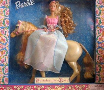 2000 Renaissance Rose - Barbie Doll & Horse Giftset.