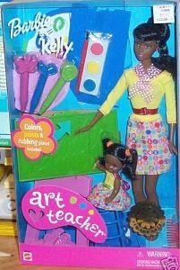 2001 Art Teacher Barbie and Kellly aa