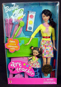 2001 Art Teacher Barbie and Kellly h