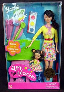 2001 Art Teacher Barbie and Kellly h