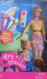 2001 Art Teacher Barbie and Kellly usa