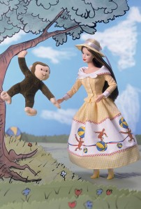 2001 Barbie® and Curious George f