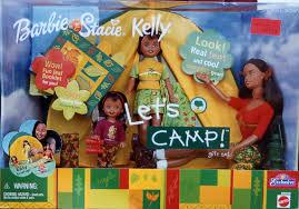 2001 LET'S CAMP Barbie Stacie & Kelly aa