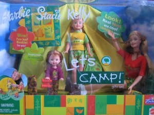 2001 LET'S CAMP Barbie Stacie & Kelly