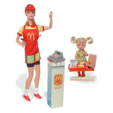2001 McDonald's Fun Time!  Barbie and Kelly  dolls Giftset f