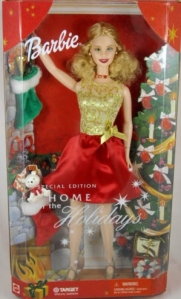 2001 Target Home for the Holidays Barbie Doll