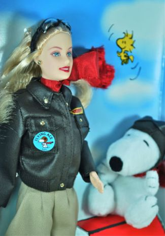 2002 Barbie Doll and Snoopy f
