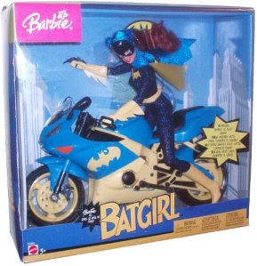 2003 Barbie as Batgirl with Batgirl's Motorcycle and Batarang