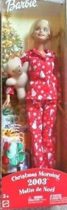 2003 Christmas morning barbie doll