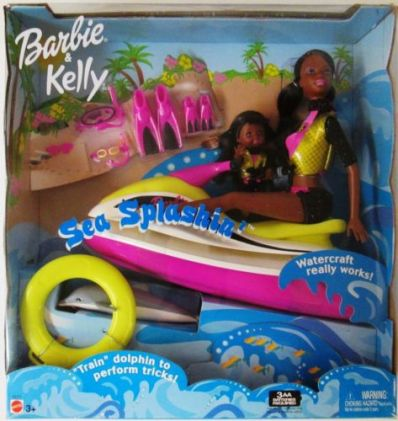 2003 Sea Splashin' Barbie & Kelly Playset aa n