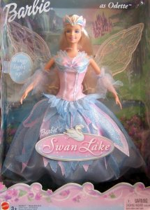 2003 Swan Lake ODETTE, Barbie Doll w Light Up Wings