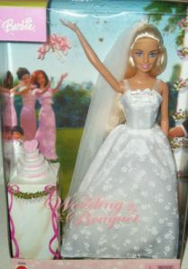 2003 Wedding Bouquet barbie Doll