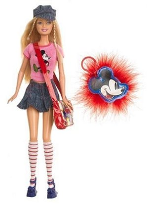 2005 Mickey Mouse, Barbie doll.