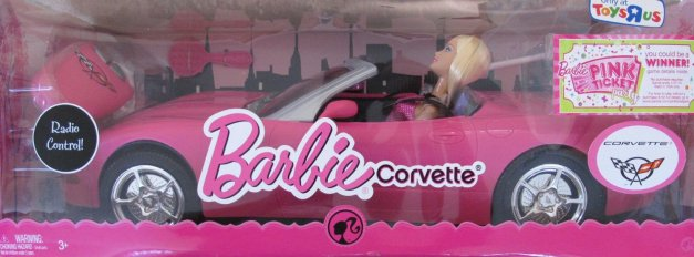 2008 CORVETTE and Barbie Doll.