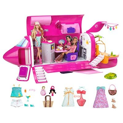 2011 Barbie Dolls & Glam Jet Includes 3 Dolls, Fashions & Accessories