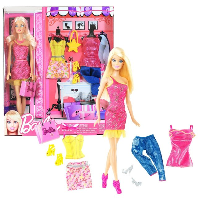 2011 Barbie Shopping Series, with 3 Sets of Outfits