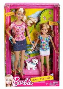 2011 Barbie Sisters Pup Walk Barbie Stacie dolls n