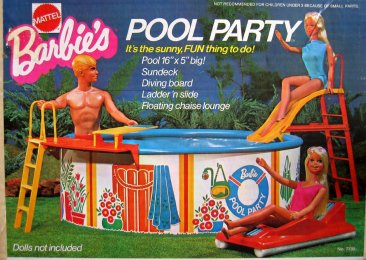 1973 Barbie Swimming Pool Party Play Set