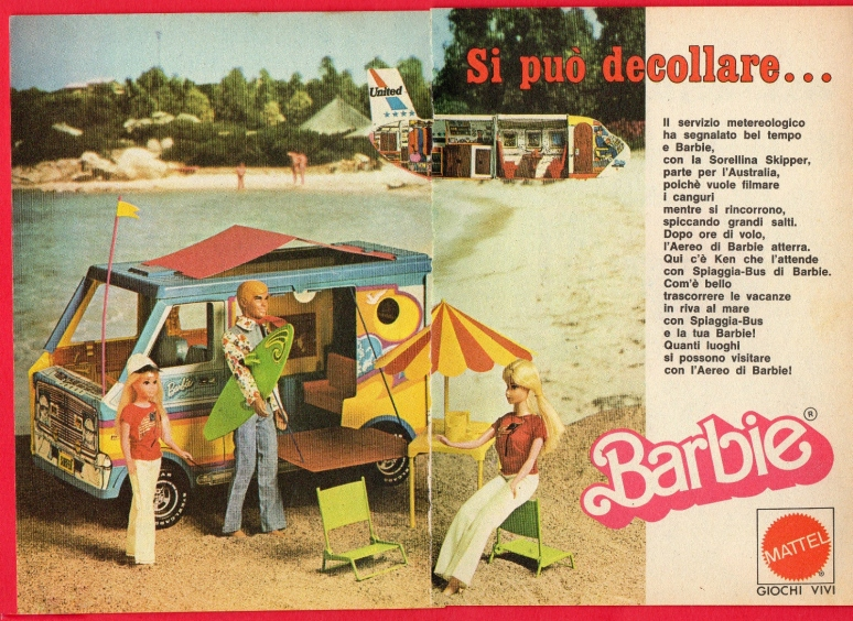 1976-barbie-ken-e-skipper-spiaggia-bus-ad-mattel-italy