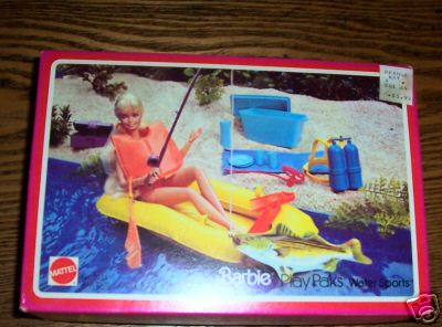 1978 Barbie Play Paks Get Aways Set Water Sports NRFB