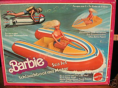1978 BARBIE SEA JET NEW SCHLAUCHBOOT MIT MOTOR