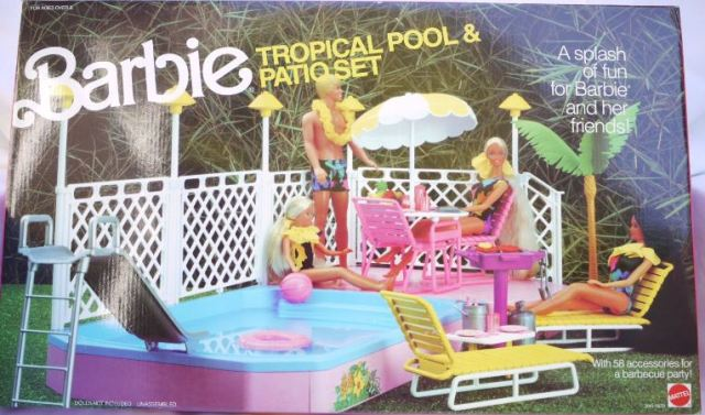 1986 Barbie Swimming Pool - Tropical Pool and Patio
