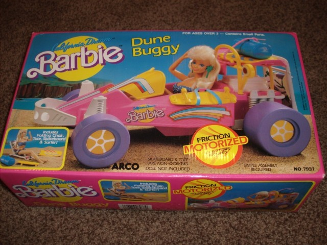 1987 #7939 barbie Dune Buggy Motorized California Dream PLAYSET – NRFB