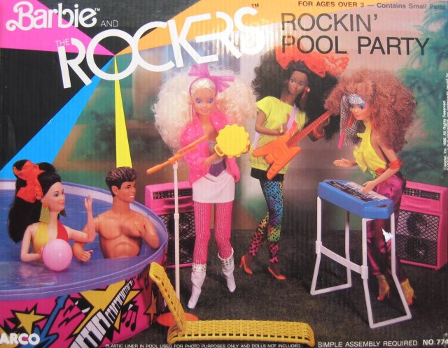 1987 Barbie and The Rockers Rockin' Pool Party (Arco Toys - Mattel)
