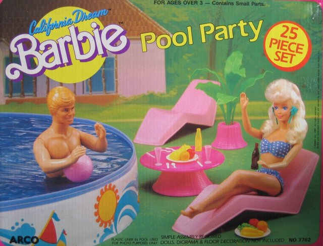 1987 California Dream Barbie Pool Party (Arco Toys - Mattel)