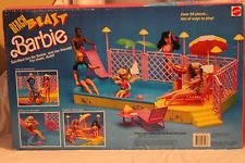 1988 Barbie Beach Blast pool and Patio 58 pieces