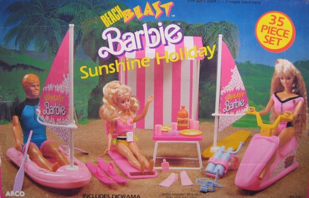 1988 Barbie Beach Blast Surf Set Playset