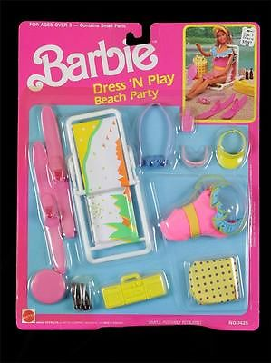 1989 #7425 Barbie Dress 'N Play Beach Party (Arco Toys - Mattel)