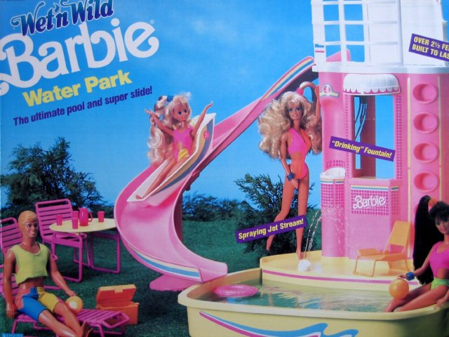 1990 #07614 Wet 'n Wild Barbie Water Park Playset