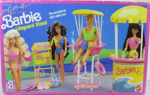1990 Wet 'n Wild Barbie Lifeguard Stand