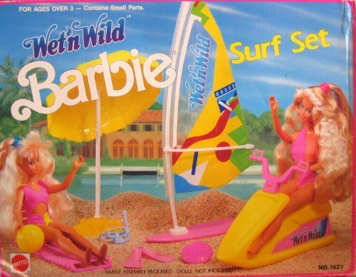 1990 Wet 'n Wild Barbie Surf Set