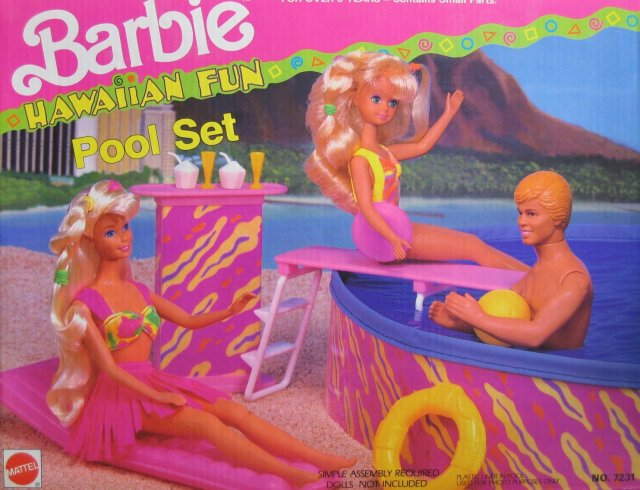 1991 Barbie Hawaiian Fun Pool Set (Arco Toys - Mattel)